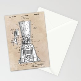 patent art Landgraf Food Mixer 1939 Stationery Cards