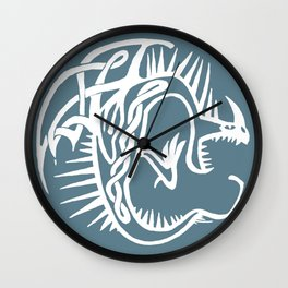 Celtic Knotwork Deadly Nadder (White) Wall Clock