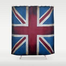 Union Jack Antique Shower Curtain