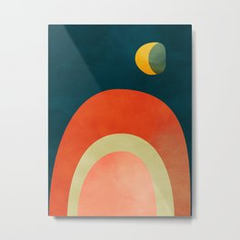 mid century geometric abstract autumn 2 Metal Print