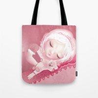 sleep Tote Bags featuring Sleep by Diana_Amaral