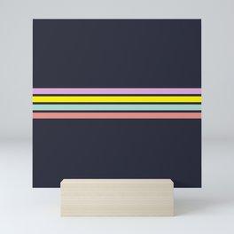 80s Retro Stripes Mini Art Print