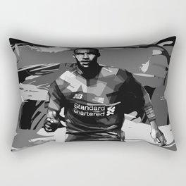 Joel Matip on Black and White Color Rectangular Pillow