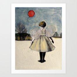 The Red Ballon Art Print