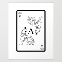 Wolf Ace Art Print
