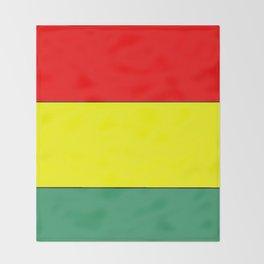 flag of bolivia 3 -bolivian,boliviano,bolivian,Sucre, La Paz. Throw Blanket