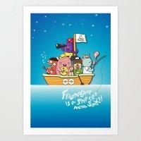 friendship Art Prints featuring Friendship by Gunawan Lo
