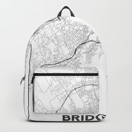 Minimal City Maps - Map Of Bridgeport, Connecticut, United States Backpack