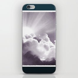 Sun Peeking Over The Clouds iPhone Skin