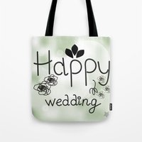 wedding Tote Bags featuring wedding by luiza13