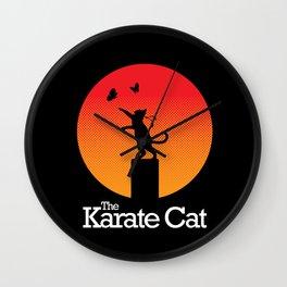The Karate Cat Wall Clock