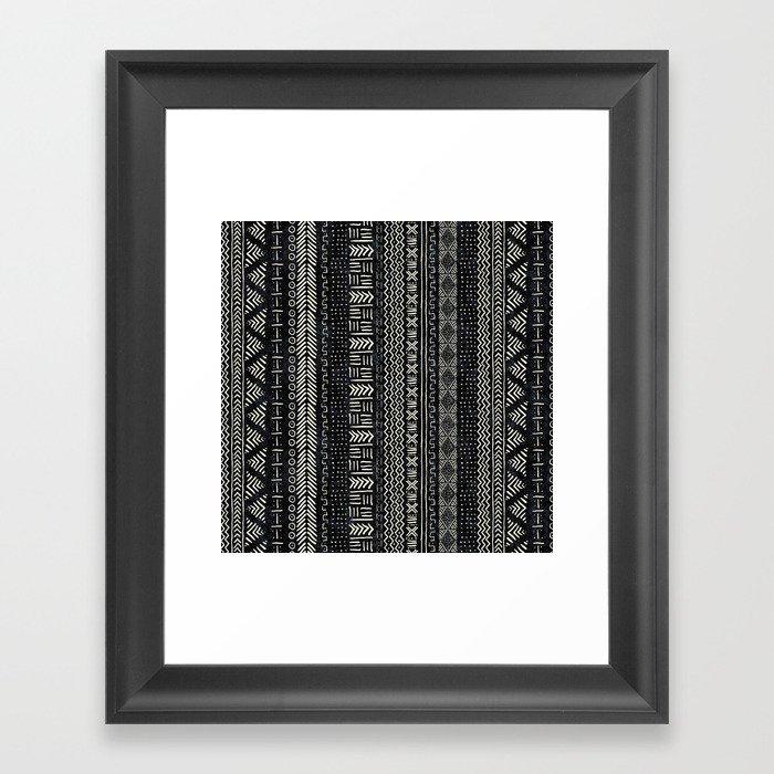 Mud Cloth Stripe Gerahmter Kunstdruck