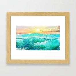 Light in a storm Framed Art Print
