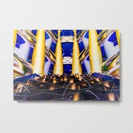 Dubaï, The Fountain of Burj Al Arab Metal Print