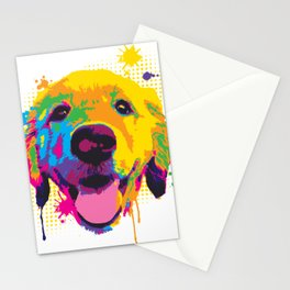 Playful Riley Pup Art Stationery Cards