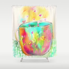 Cup of Love Shower Curtain