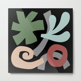 Mid Century Modern Organic Abstraction 930 Metal Print