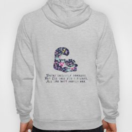 Alice floral designs - Cheshire cat entirely bonkers Hoody