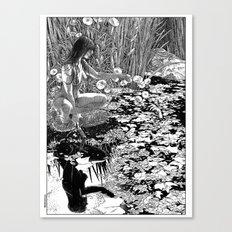 asc 534 - La Dame du lac (Viviane) Canvas Print