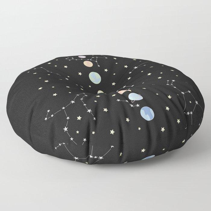 For You - Solar System Illustration Floor Pillow