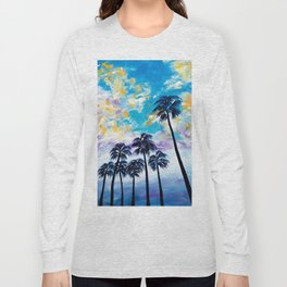 Oceanside Palm Trees Long Sleeve T-shirt