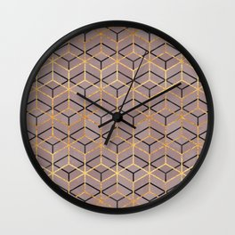 Pretty Geometry 1 Wall Clock