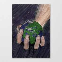 Death of a Small Planet Canvas Print
