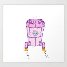Rocket Mondays Art Print