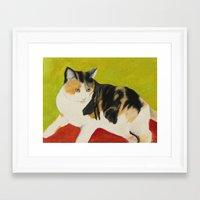 nori Framed Art Prints featuring Nori by jeannefischer