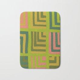Painted Color Block Squares Bath Mat