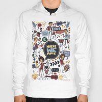 cargline Hoodies featuring WWA Poster by cargline