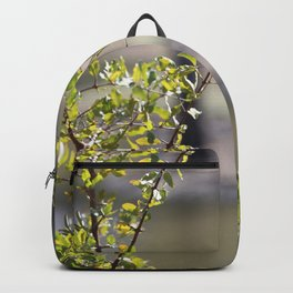 Sunny green African tree Backpack