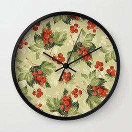 Vintage Berries Wall Clock