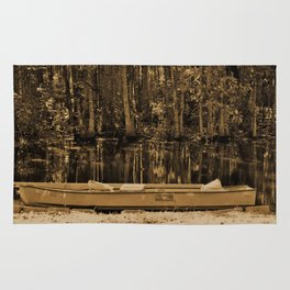 Boat And Swamp Waters Rug