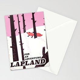 Lapland vintage travel poster Stationery Cards
