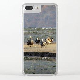 Mystic Magic Pelicans Clear iPhone Case