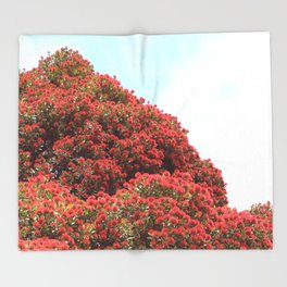 Pohutukawa Throw Blanket