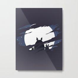 ghibli dark moon Metal Print