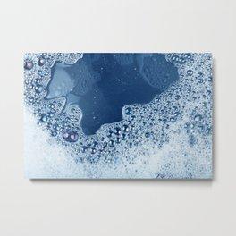 soap foam surface Metal Print