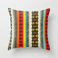 ethnic Throw Pillows featuring Ethnic by Katya Zorin