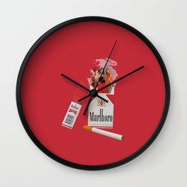 smoke show Wall Clock