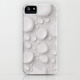 Water Drop White Water Balls Abstract Pattern iPhone Case