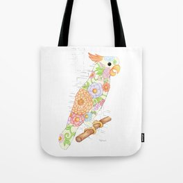 Floral Cockatiel Tote Bag