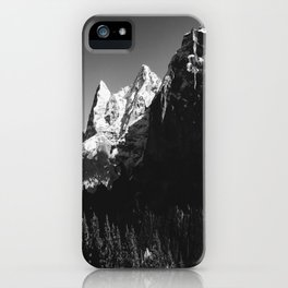 Swiss Alps Black and White iPhone Case