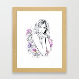 In Flowers Framed Art Print