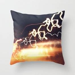 Spiralling Throw Pillow