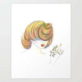 Perception (Earrings) Art Print