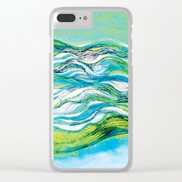 The ocean  waves1 Clear iPhone Case