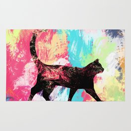 Abstract Cat Rug