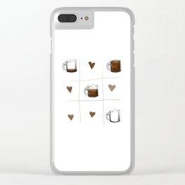 Tic Tac Toe Coffee Lover Clear iPhone Case
